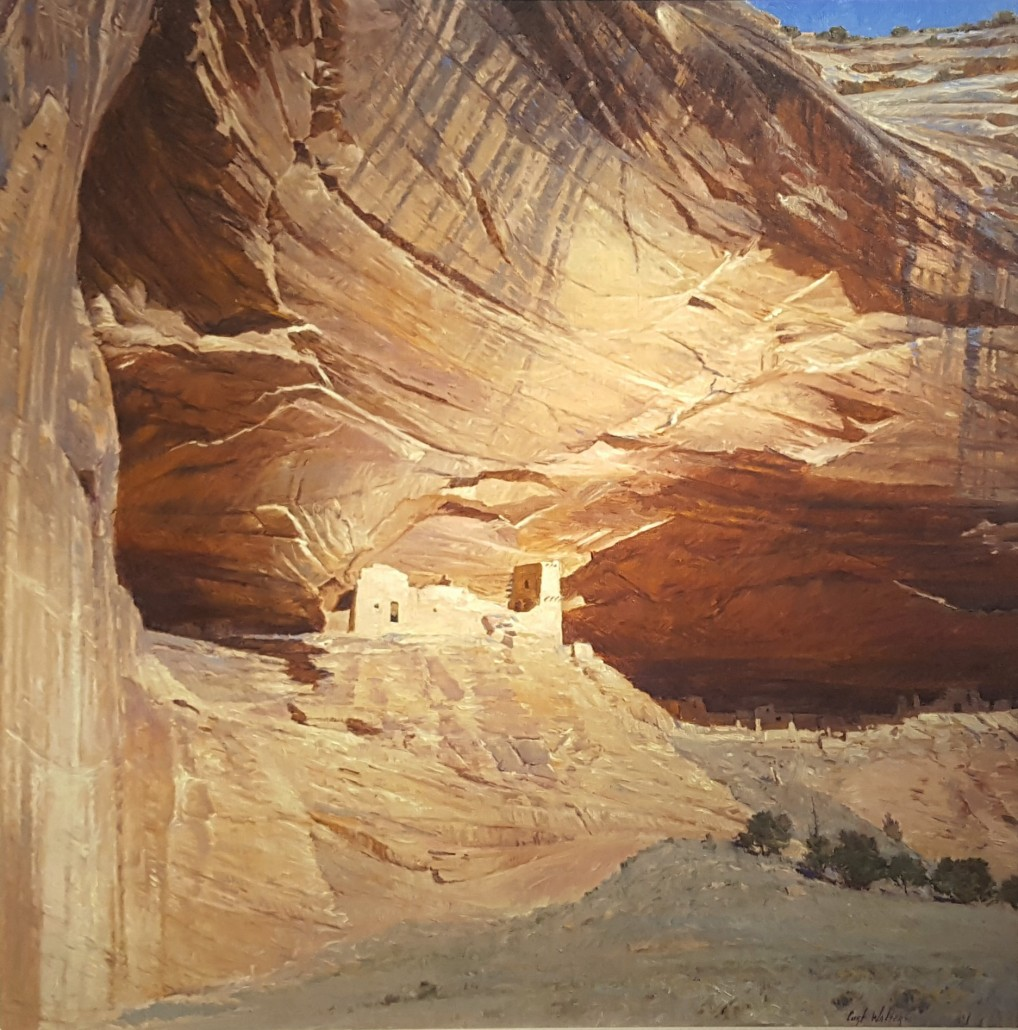 "Curt Walters (American 1950 - ) 'Anasazi Castle,' oil on canvas. Estimate: $25,000-$35,000. Waca Auctions image Castle"""