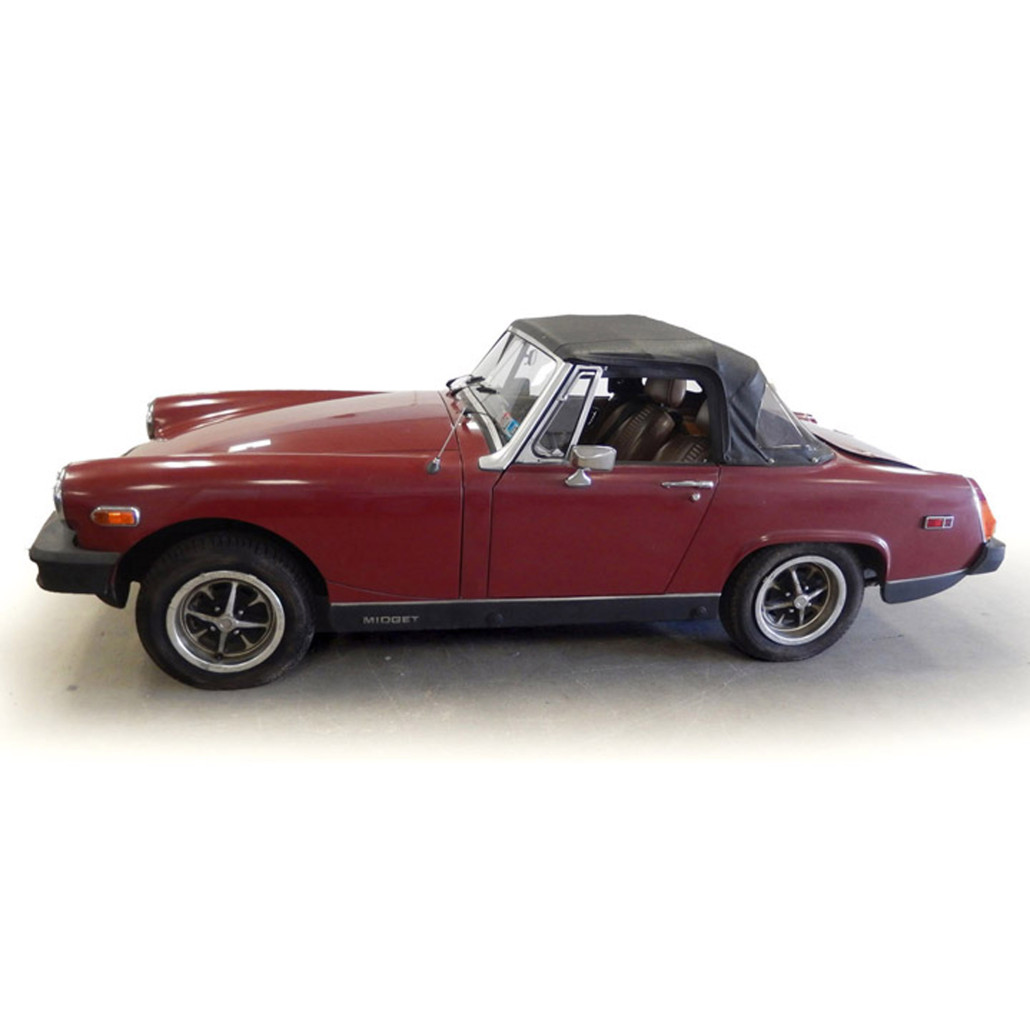 1979 red MG Midget two-seater convertible, British, est. $1,500-$3,000