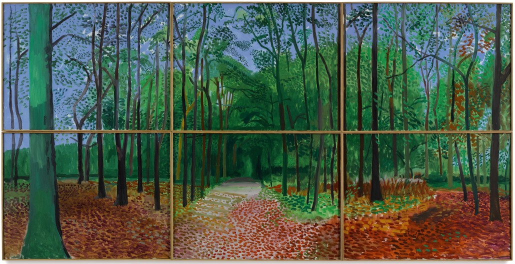 David Hockney, 'Woldgate Woods, 24, 25 & 26 October, 2006,' to be auctioned by Sotheby's NYC, Nov. 17, 2016. Image courtesy of Sotheby's