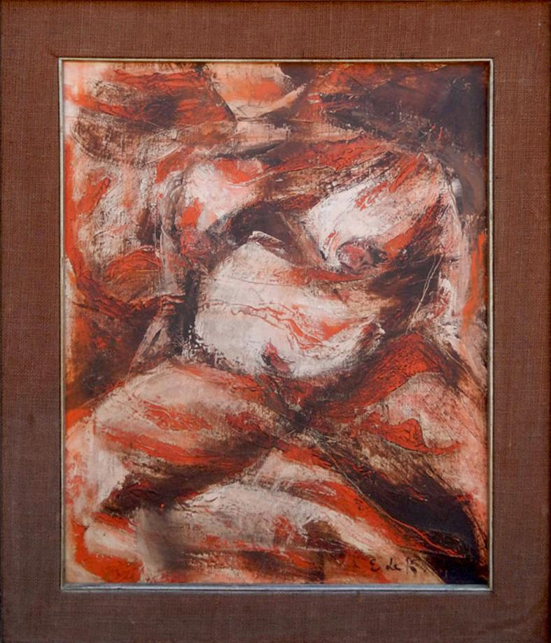 Elaine Fried de K. (Kooning) oil-on-canvas, female nude, est. $2,500-$5,000