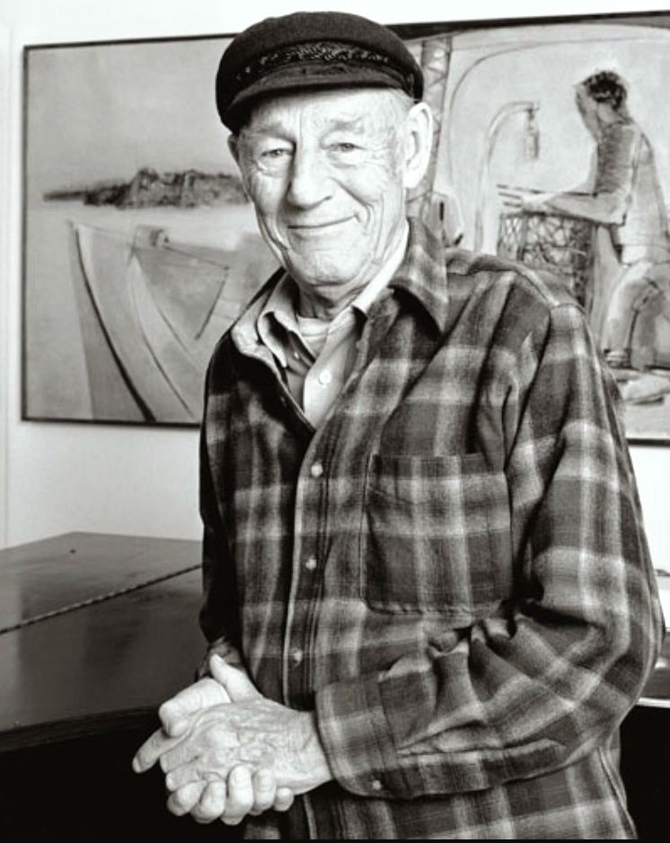 John W. Hatch was an accomplished artist who taught at the University of New Hampshire, Durham, for 35 years. Photo credit: Gary Sampson