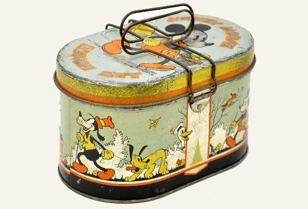 Rare Early Mickey Mouse Lunch Box & 10 Best Vintage Lunch Boxes for Back to School Aboutintivar.Com