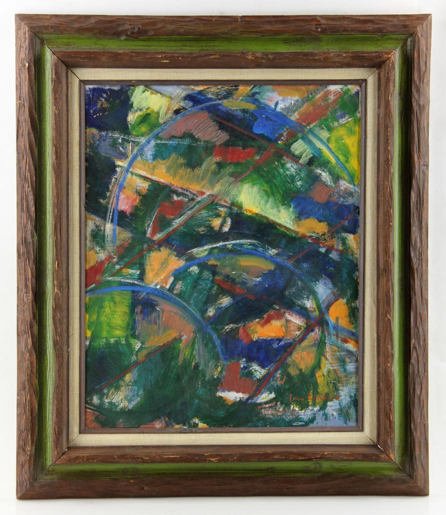 Joan Mitchell abstract oil on Masonite, est. $50,000-$75,000