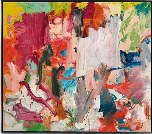 Willem de Kooning (1904–1997), Untitled XXV, 1977. Signed 'de Kooning' (on the reverse). Oil on canvas. 77 x 88 in. (195.7 x 223.5 cm.) This work is offered in the Post-War and Contemporary Art Evening Sale on 15 November at Christie's New York. Image courtesy Christie's Images Ltd. 2016