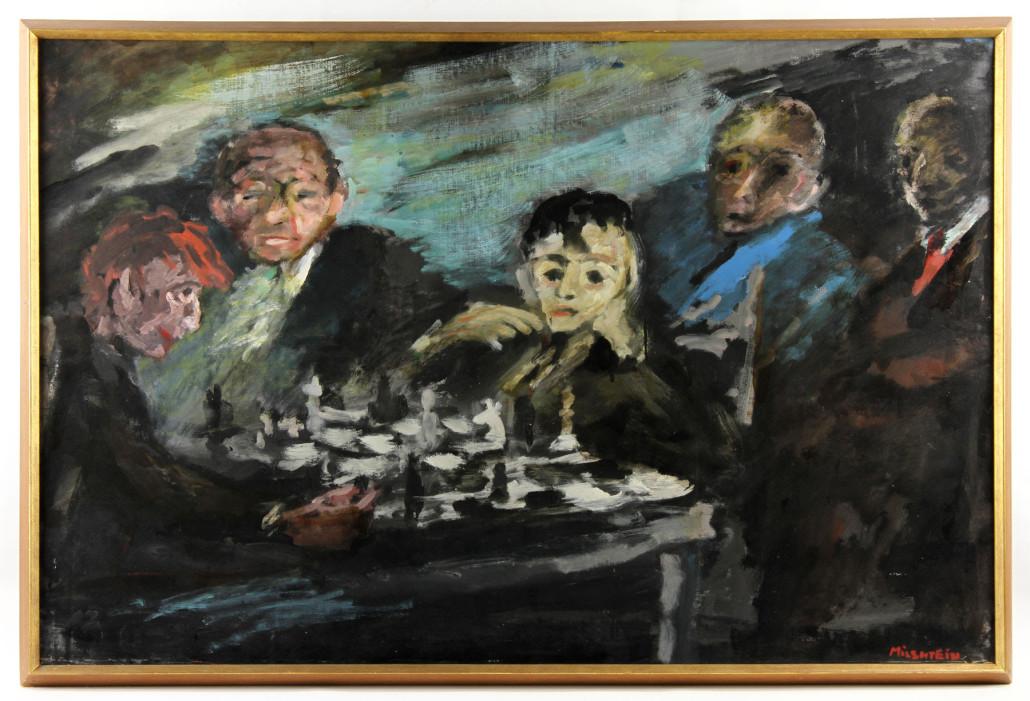 Zwy Milshtein, oil on canvas, est. $10,000-$15,000