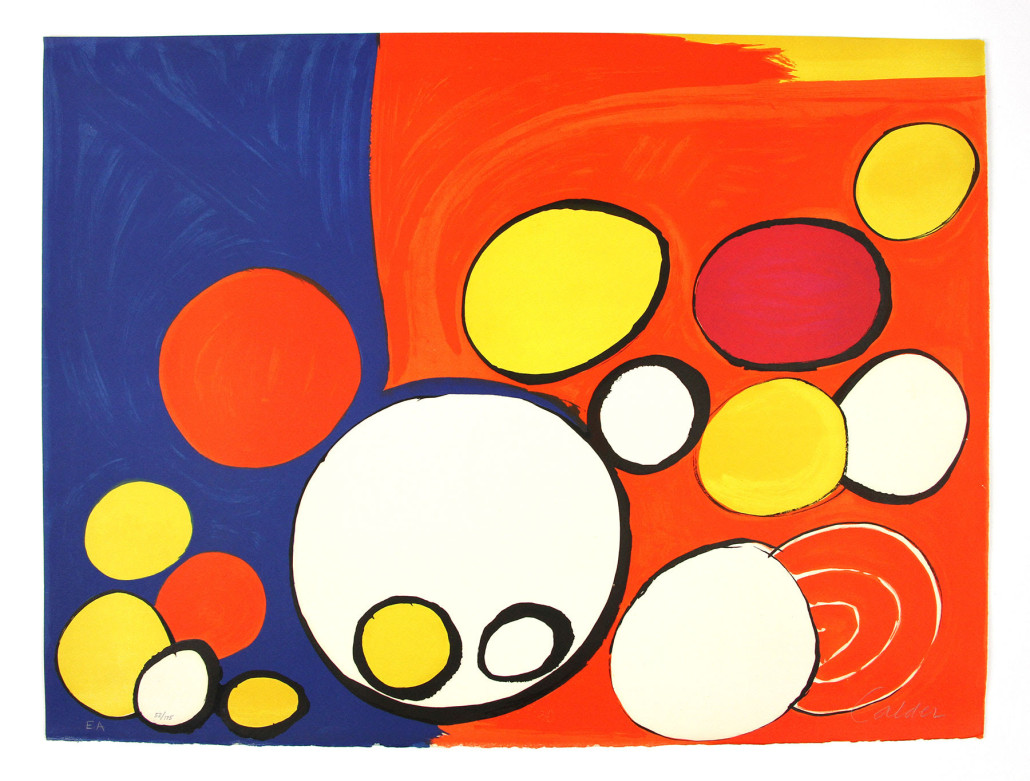 Alexander Calder, 'Circle With Eyes,' lithograph. Kaminski Auctions image