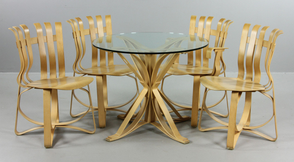 High Quality Frank Gehry Bentwood Chairs And Table. Kaminski Auctions Image.