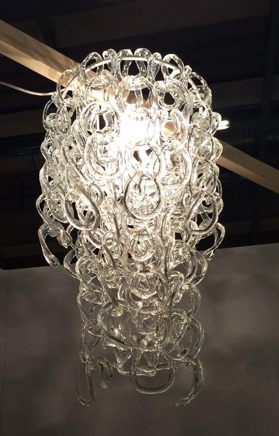 Angelo Mangiarotti, 'Giogali' model chandelier, manufactured by Vistosi, circa 1970. Estimate: €700–€1,000 ($741-$1,060). Nova Ars image
