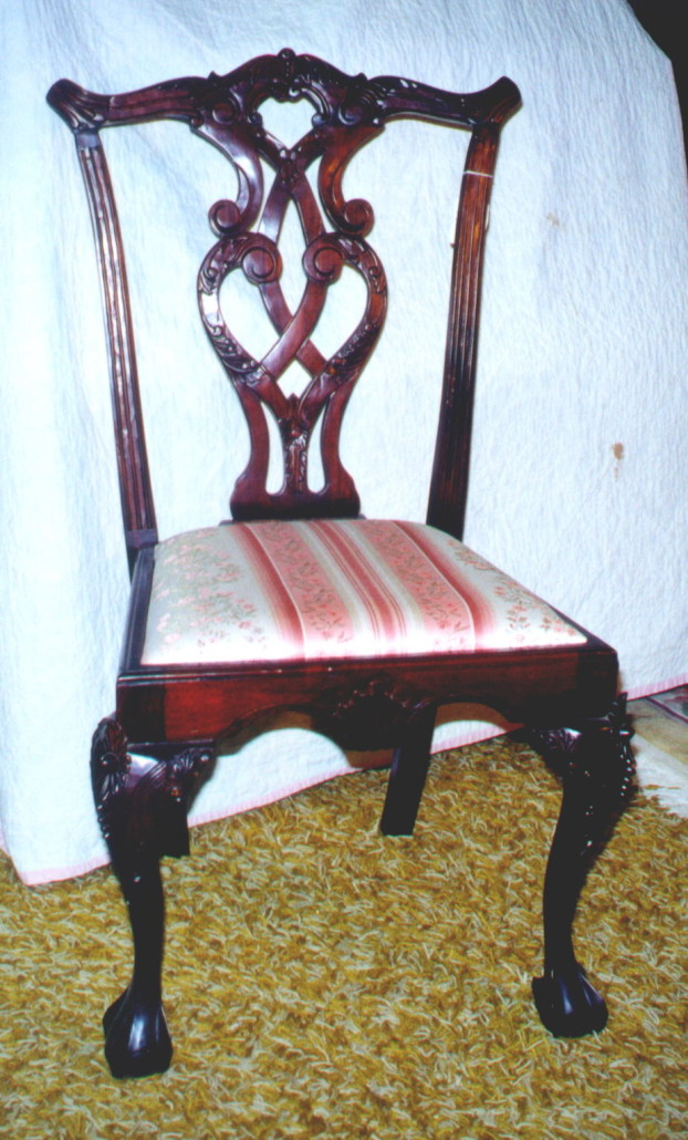 How old is this Chippendale chair? (Answer: circa 1900).
