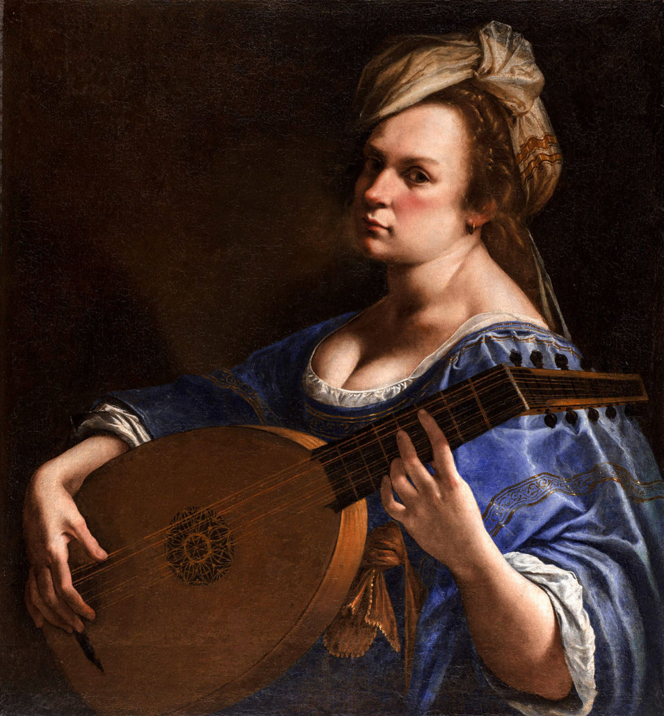 Artemisia Gentileschi, 'Self-Portrait as a Lute Player,' 1615–17. Image courtesy Wikimedia Commons