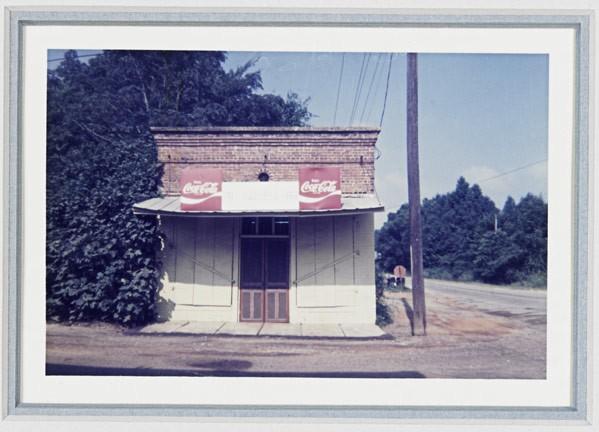 William Christenberry (American, 1936-2016), 'Bar-B-Q Inn, Greensboro, Alabama,' 1976; Chromogenic Ekta Pro print, signed, dated and titled. Rago Arts and Auction Center image