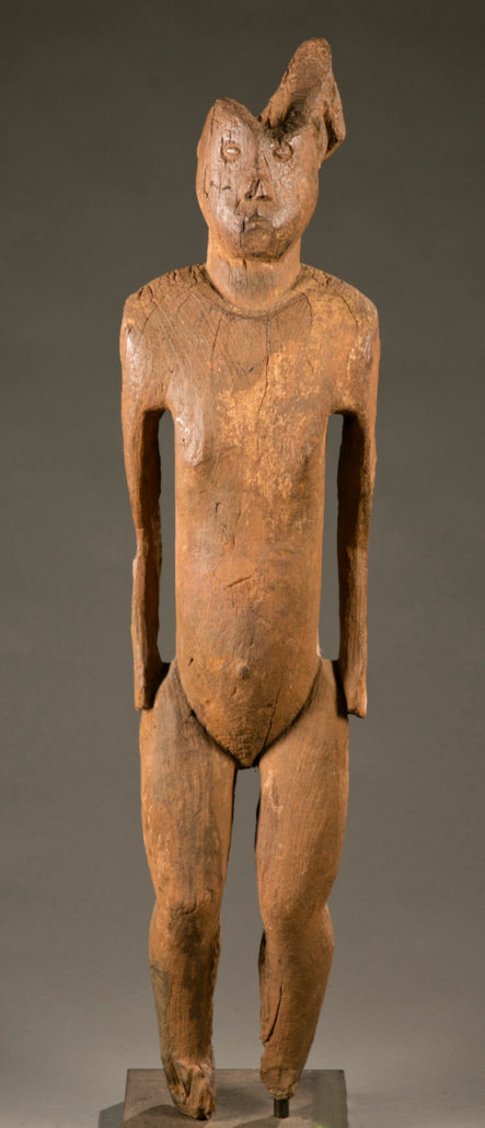 Standing commemorative figure, Sudan, Bongo, late 19th to early 20th century, $6,000-$8,000. Quinn's Auction Galleries image