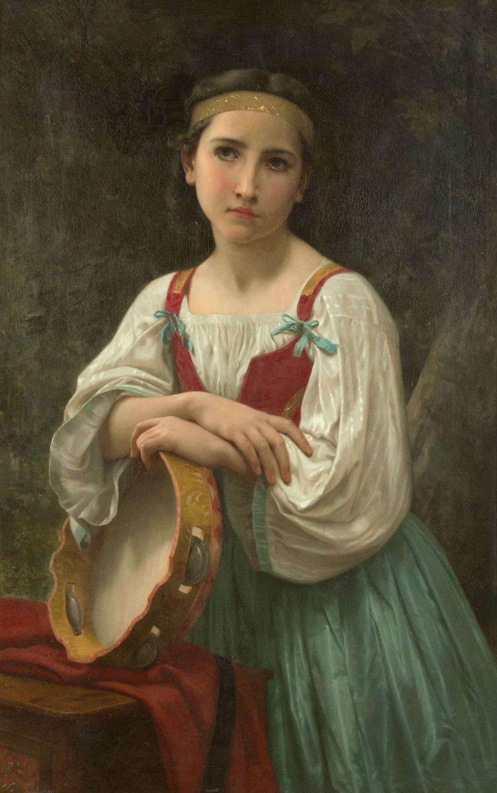 William Adolphe Bouguereau, 'Bohémienne au tambor de Basque.' Price realized: $334,000. Heritage Auctions image