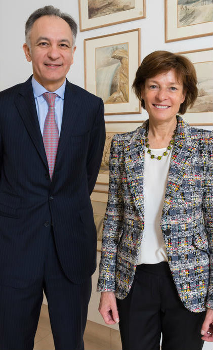 Guillaume Cerruti and Patricia Barbizet. Christie's image