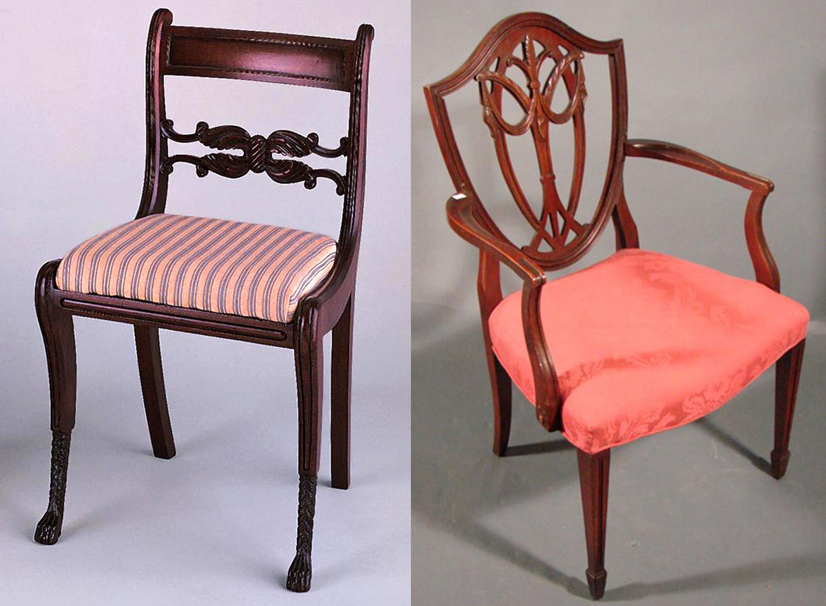 Is this a Phyfe chair and a Hepplewhite chair? Or is it a pair of - Sorting Furniture Styles: Pigeonhole With Caution