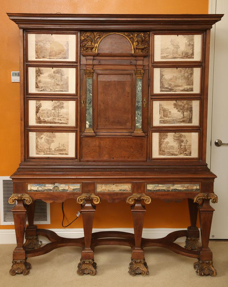 Italian Vargueno Cabinet, 17th 18th Century. Kaminski Auctions Image