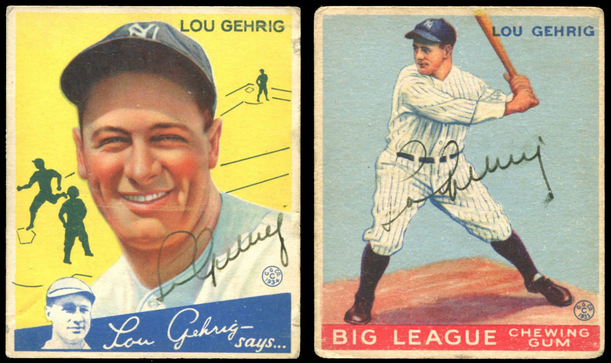 Lou Gehrig Baseball Cards Earn Mvp Honors At Weiss Auctions