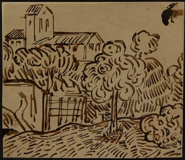 Attributed Van Gogh Drawing Sells For 12000 At Woodshed