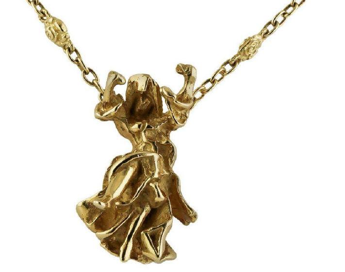 18K yellow gold pendant necklace designed by Salvador Dali, 31.5 grams. Estimate: $3,650-$3,950. Jasper52 image