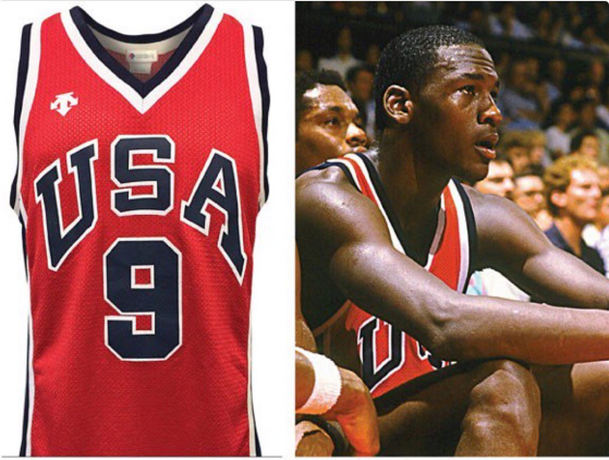 the latest 43311 52db9 Michael Jordan 1984 Olympics jersey auctioned for record $274K