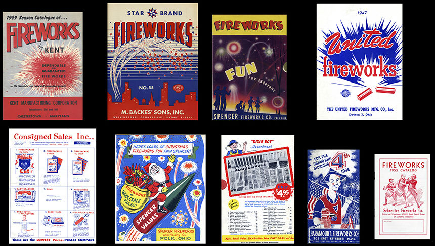 A sparkling salute to vintage fireworks, aka pyrobilia