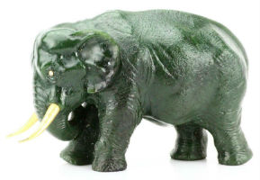 Carl Faberge nephrite elephant among rare gems in GWS Auctions jewelry sale Sept. 9