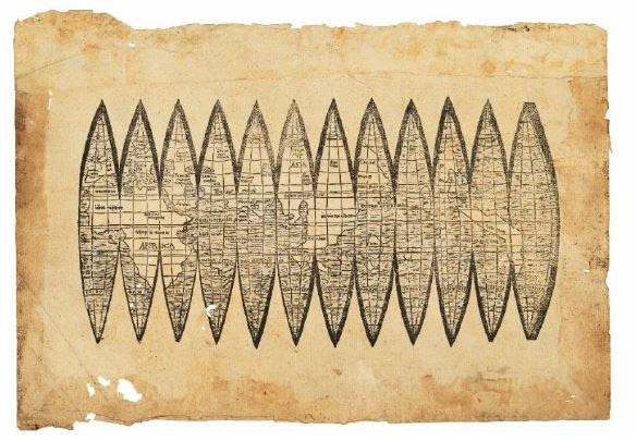 Oldest Map Of America.Oldest Map To Use Word America Set For Dec 13 Auction