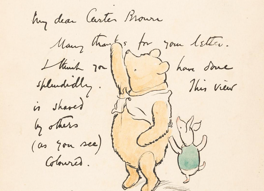 Rare Winnie-the-Pooh drawing leads April 19 auction