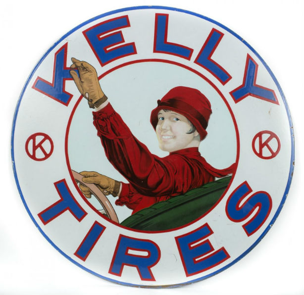 Rare Kelly Tires Porcelain Sign - Feb 28, 2015 | Manifest