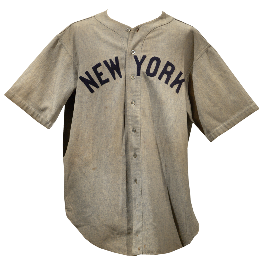 quality design 26dab 13672 babe ruth game used jersey