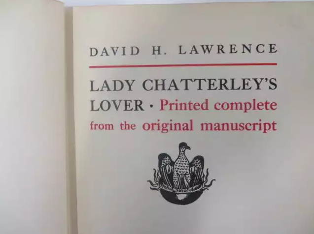 Copy of 'Lady Chatterley' used at obscenity trial for sale
