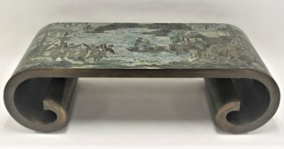 LaVerne coffee table top draw in M G Neely Auction Nov. 11