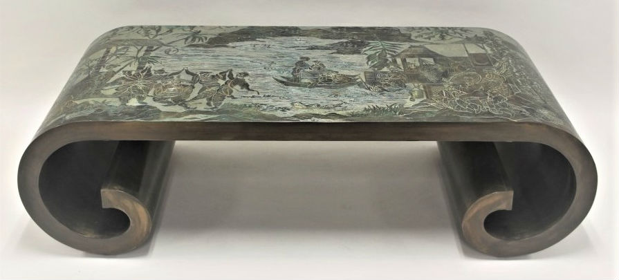 Philip Laverne Coffee Table.Laverne Coffee Table Top Draw In M G Neely Auction Nov 11