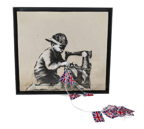 Banksy's 'Slave Labour' purchased at auction by artist Ron English for $730K