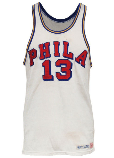 d6e8bbd13 A Philadelphia Warriors jersey that Wilt Chamberlain wore in the 1961-62  season