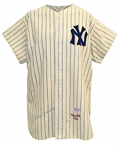 hot sale online 4f117 aaee0 Mickey Mantle 1954 NY Yankees jersey hits $575K at auction