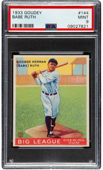 Top Ranked 1933 Goudey Baseball Card Set To Be Broken Up At