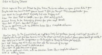 University Archives auction boasts Bob Dylan lyrics Jan. 23