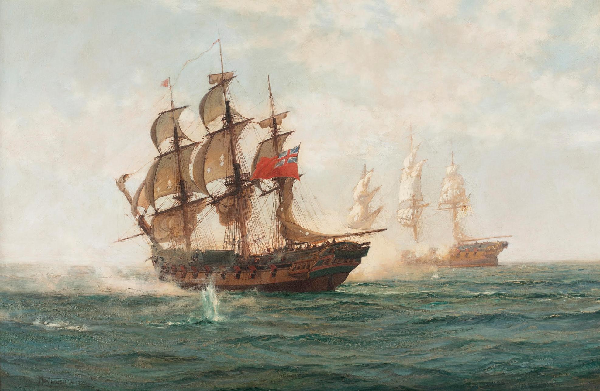 Montague Dawson marine painting is flagship of Quinn's Jan. 26 auction