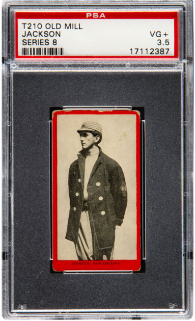 2 Shoeless Joe Jackson Baseball Cards Top 1m At Heritage