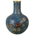 18th century Chinese cloisonné urn