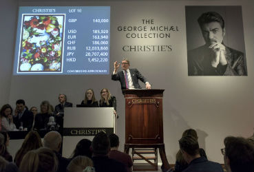George Michael art collection a big hit at London auction