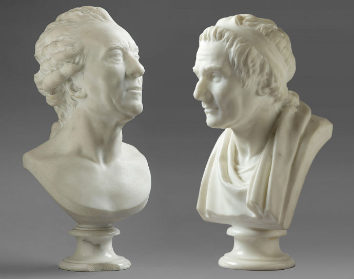 Houdon marble busts