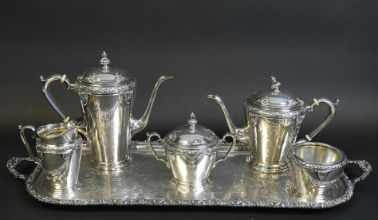 Sterling silver shining sample of Curated Estates fare May 9