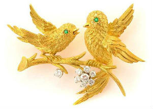 Bird brooches are high-flying fashion classics