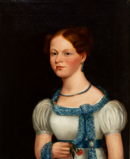 Virginia portrait of Maria Koontz. Price realized: $15,210. Jeffrey S. Evans & Associates image