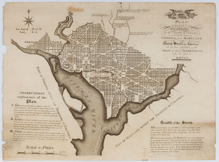 1792 plan of Washington, D.C., Lot 1197, Price realized: $12,870. Jeffrey S. Evans & Associates image