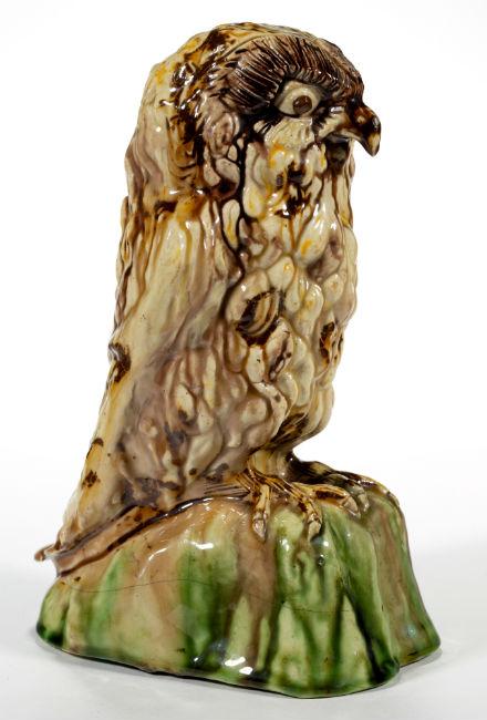 Whieldon-type Staffordshire figure. Price realized: $7,020. Jeffrey S. Evans & Associates image