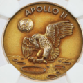 Neil Armstrong's lunar-flown medal