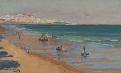 John Lavery beach painting to crest at Capsule Gallery July 30
